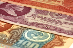 Bankbiljetten de USSR? royalty-vrije stock afbeeldingen