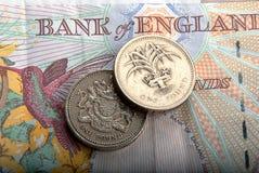 Bankbiljetten en muntstukken Royalty-vrije Stock Afbeeldingen