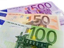 Bankbiljetten - Euro Royalty-vrije Stock Foto's