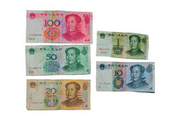 Bankbiljetten van China Stock Afbeelding