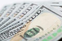 Bankbiljetten van de close-up de Amerikaanse Dollar stock fotografie