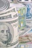 Bankbiljetten van de wereld Stock Afbeelding