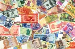 Bankbiljetten van de wereld van verschillende tijden Royalty-vrije Stock Afbeeldingen