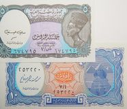 Bankbiljetten van Egypte Papiergeld stock fotografie