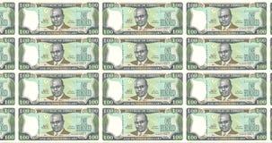 Bankbiljetten van honderd die dollar Liberianen van Liberia, contant geldgeld, lijn rollen royalty-vrije illustratie
