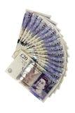 Bankbiljetten van twintig ponden Stock Fotografie