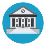Bankbyggnad Arkivbild