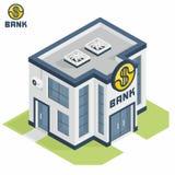 Bankbyggnad vektor illustrationer