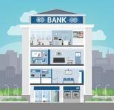 Bankbyggnad stock illustrationer