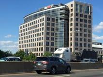 Bankbyggnad för UBS AG i Stamford Fotografering för Bildbyråer