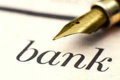 Bankconcept stock afbeelding