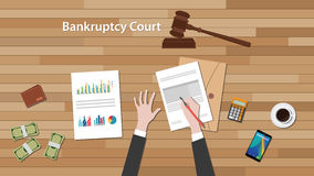 Bankcruptcy court concept Royalty Free Stock Images