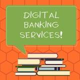 Bankdienstleistungen Handschriftstext Digital Konzept, das Digital-Analog-Wandlung aller altmodischen ein Bankkonto habenden Täti vektor abbildung
