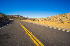 Banked Desert Road Royalty Free Stock Images
