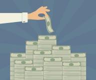 Bankeinlagen Stockfoto