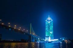 Banken av Thailand högkvarter lokaliseras nära motorvägen arkivfoto