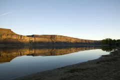Banken Lake Washington Lizenzfreie Stockfotografie