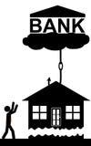 Banken tar huset Arkivbild