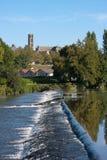 Banken van de rivier van Wenen in Limoges Royalty-vrije Stock Fotografie