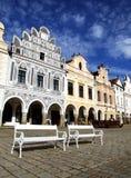 Banken voor barokke huizen Royalty-vrije Stock Afbeeldingen