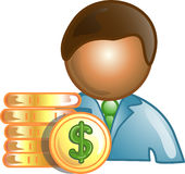 Banker career icon or symbol Stock Image
