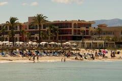 Banker i Alcudia i Majorca Royaltyfri Fotografi