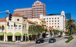 Banker i Miami, Florida USA Royaltyfri Fotografi