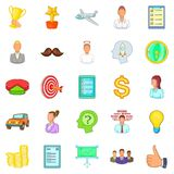 Banker icons set, cartoon style Royalty Free Stock Photography