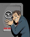 Banker mit Safe Stockbilder