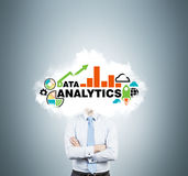 Banker is thinking about analytic solutions for business development. Young investment banker is thinking about analytic solutions for business development Stock Photo