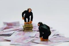 Banker und Geldnehmer Stockfotografie