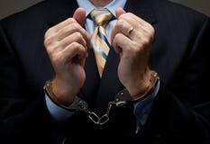 Banker? /white-collar-Verbrechen Stockfotos