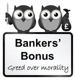 Bankers bonuses Royalty Free Stock Photo