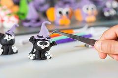 Banketbakker met cijfers van Halloween Stock Fotografie