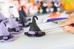 Banketbakker met cijfers van Halloween Stock Afbeeldingen