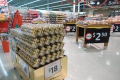 Banketbakkerij bij Coles supermarkt Stock Fotografie