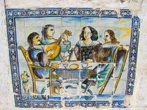 Bankett, azulejos, Portugal Stockbilder