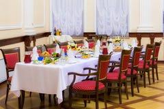 Bankett in der Gaststätte Verschiedene Zartheit, Erfrischungen am Galaereignis lebesmittelanschaffung stockfotos