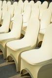 Bankett-Stühle Stockbild