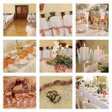 bankettcollagebröllop Fotografering för Bildbyråer