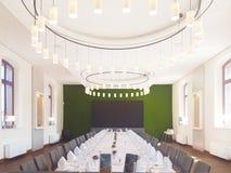 Banketthalle für das feine Speisen oder die Heirat stockfotos
