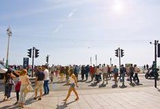 Bankfridag i Brighton Arkivfoto