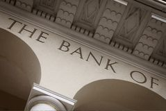 Bankgebäude Lizenzfreies Stockbild