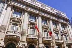 Bankgebäude in Lissabon - banko Totta Acores Lizenzfreie Stockfotos