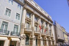 Bankgebäude in Lissabon - banko Totta Acores Stockbilder