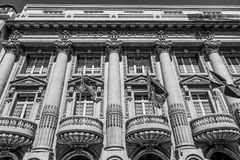 Bankgebäude in Lissabon - banko Totta Acores - LISSABON/PORTUGAL - 15. Juni 2017 Lizenzfreies Stockfoto