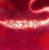 Bankground di nuovo anno felice Immagini Stock Libere da Diritti