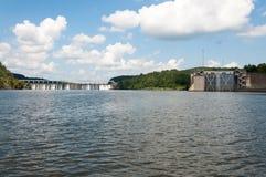Bankhead锁和水坝 免版税库存照片
