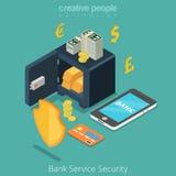 Banki antifraude sûr mobile de sécurité de service bancaire illustration libre de droits