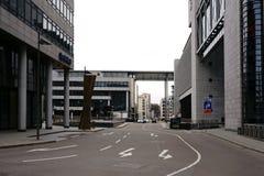 Banki i parking przy Stuttgart centrali stacją Fotografia Stock